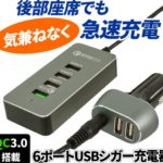 【上海問屋】後部座席でもスマホの充電ができるUSBポート発売!