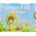 【2019年夏版】格安SIMとセットで買えるオススメSIMフリースマホは?